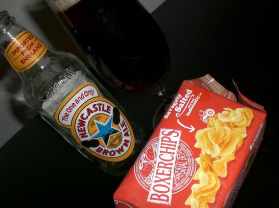 brown ale & chips