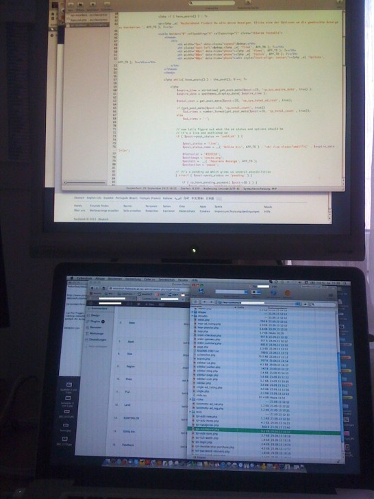 screens coding